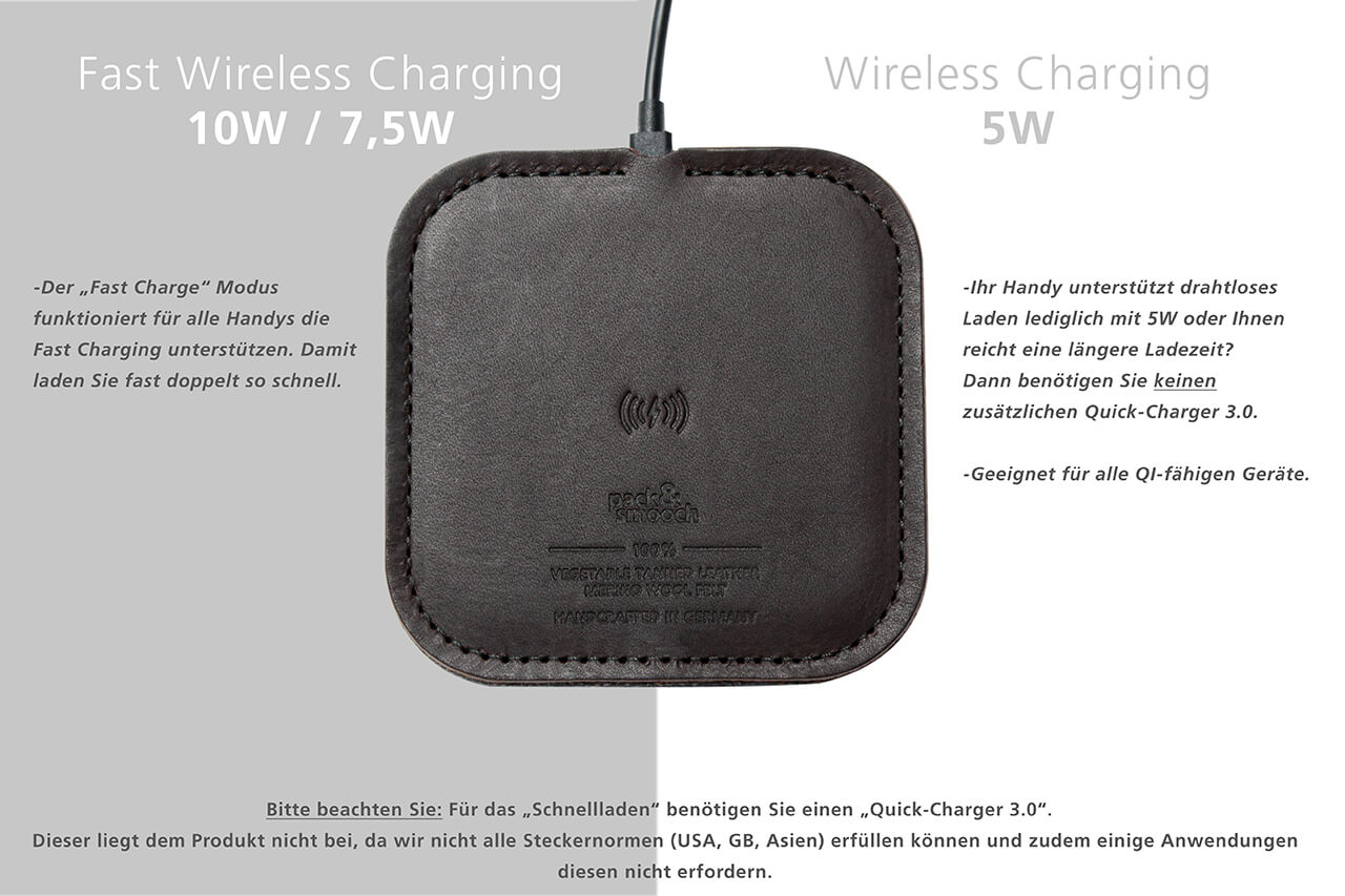 TAURUS - Fast Wireless Charger for iPhone X / 8 and Qi charging devices