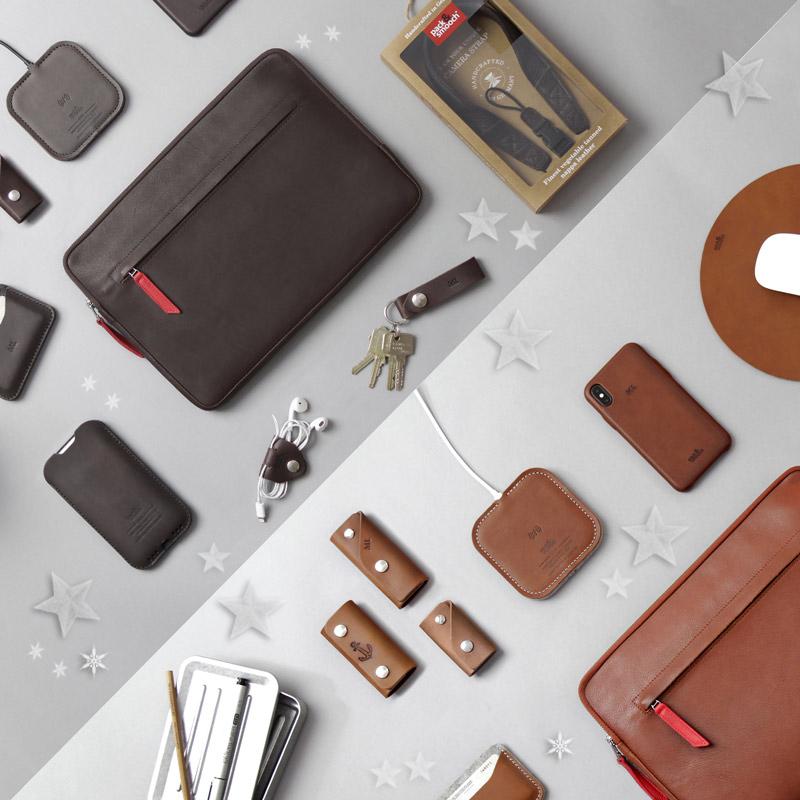 Accessoires aus Leder und Wollfilz zum verschenken