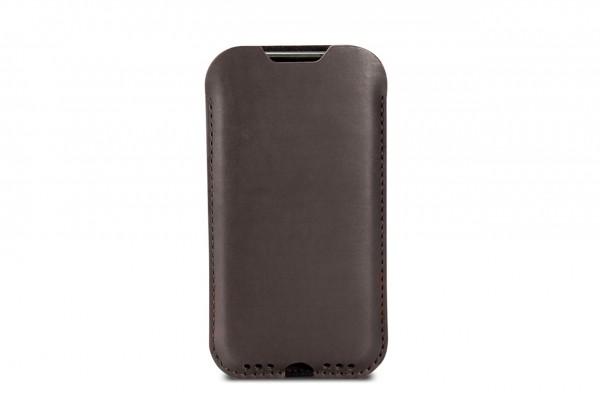 iPhone 11 Hülle Kingston aus dunkelbraunem Leder
