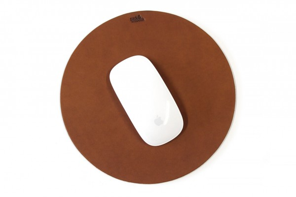 Mouse pad made of leather or wool felt
