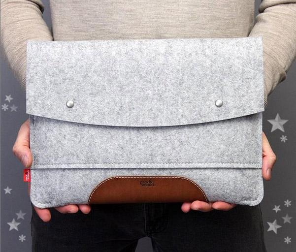 MacBook Wollfilz Hülle als Geschenk
