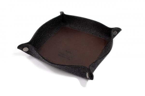 Valet tray Corby in dark brown
