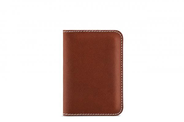 Handmade sustainable natural leather card case
