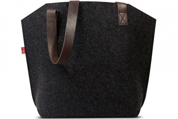 Wool felt Shopper in charcoal