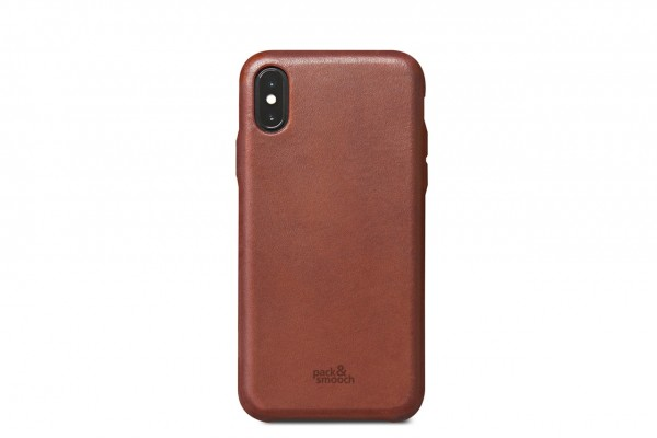 iPhone X leathercase, backcover for iPhone XS light brown