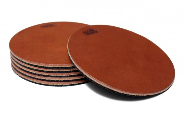 Coaster - leather and natural rubber
