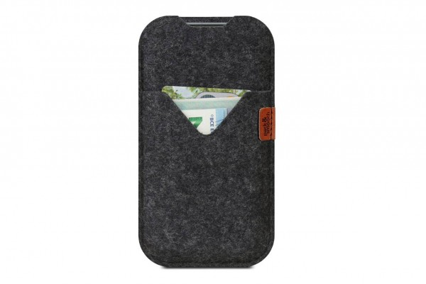 iPhone Cover Shetland dark grey