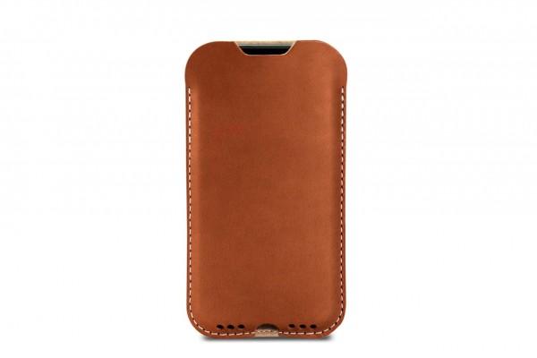iPhone 7 handyhülle aus Merino Wollfilz und Naturleder aus Italien by Pack & Smooch
