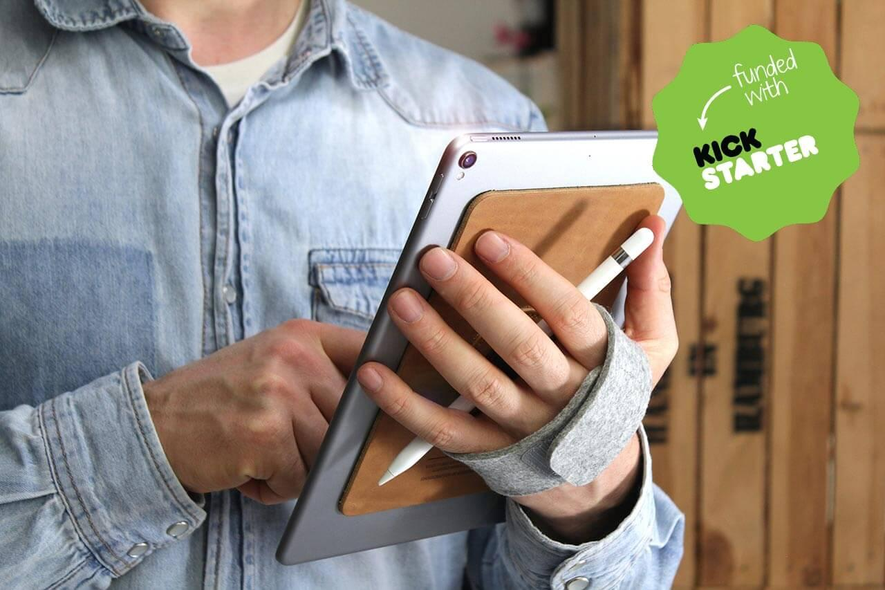 tabstrap-ipad-holder-iPad-pro-holder-leather-holder-iPad-kickstarter-packandsmooch